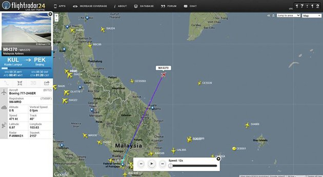 this-screengrab-from-flightradar24com-shows-the-last-reported-position-of-malaysian-airlines-flight-mh370-friday-night-march-7-2014-the-boeing-777-200-carrying-239-people-lost-contact-over-the-south-china-sea-on-a-flight-from-kuala-lumpur-to-beijing-and-international-aviation-authorities-still-hadnt-located-the-jetliner-several-hours-later