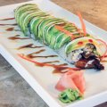 The restaurant also serves sushi, including the Dragon Roll with eel, crab, cucumber and tempura shr...