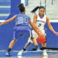 Special To NWA Media Mike Kemp Jaylah Prude of Fayetteville tries to get the ball up the court Satu...