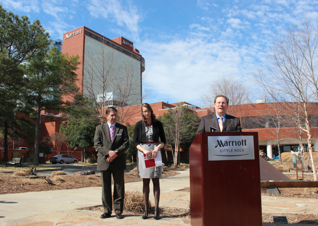 little-rock-mayor-mark-stodola-speaks-friday-at-a-news-conference-on-renovations-at-the-downtown-little-rock-marriott