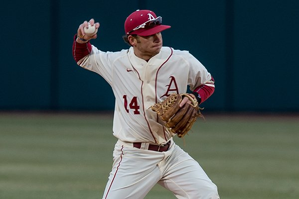 "Arkansas infielder Josh Alberius made ESPN's ""SportsCenter"" on Wednesday."