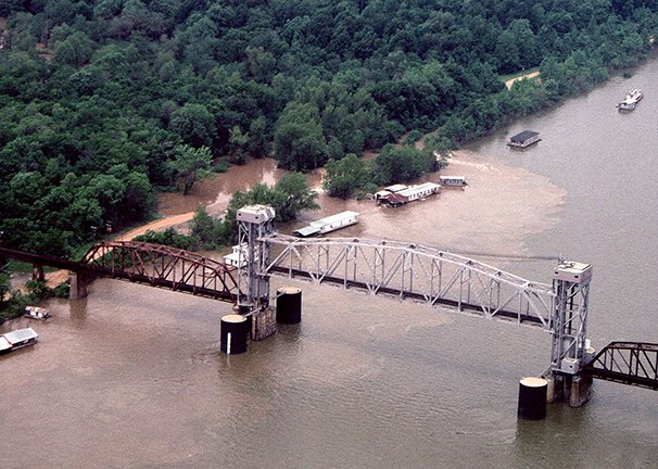 an-aerial-view-of-the-white-river-the-benzal-bridge-and-the-shantyboat-town-during-high-water-in-1998-the-same-view-today-would-show-nothing-but-the-river-and-a-skeleton-of-the-old-railroad-bridge