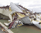 Before and after tornado: Van Buren County church rebuilds