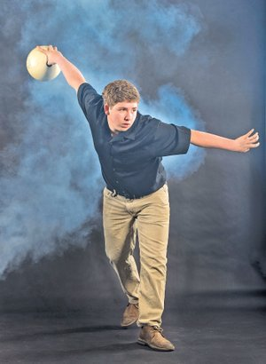 STAFF PHOTO ANTHONY REYES Logan Nielsen of Fayetteville averaged above 200 per game, was the top bowler on the Fayetteville team and also the top in the 7A-West Conference. Nielsen is the NWA Media Boys Bowler of the Year.