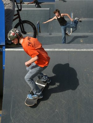 The skate park at the Jacksonville Community Center will host Bikes, Blades and Boards on Friday, a chance for skaters to get tips and have fun on the ramps.