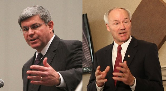 gubernatorial-candidates-mike-ross-left-democrat-and-asa-hutchinson-right-republican