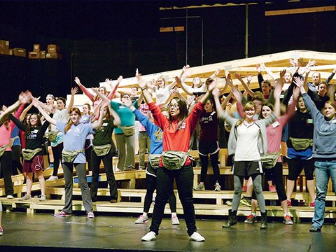 members-of-delta-gamma-rho-omega-phi-and-zeta-pi-zeta-rehearse-for-their-performance-in-the-2014-spring-sing-production-which-features-the-theme-new-the-event-will-be-held-on-the-harding-university-campus-april-17-19