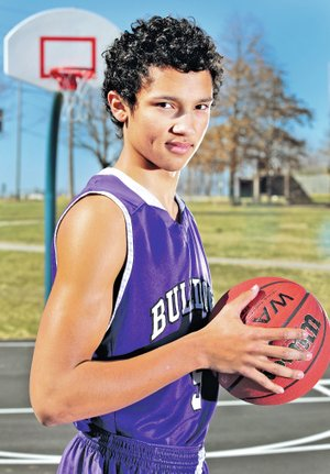 STAFF PHOTO JASON IVESTER Payton Willis of Fayetteville is the All-NWA Media Boys Basketball Newcomer of the Year.