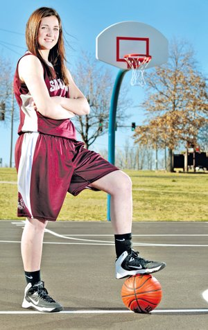 STAFF PHOTO JASON IVESTER Baily Cameron of Siloam Springs is the All-NWA Media Girls Basketball Player of the Year.