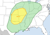 This graphic from the Storm Prediction Center shows a slight risk for severe weather for the northwestern half of Arkansas through Wednesday night.