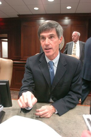Former state Sen. Gilbert Baker resigned Wednesday from his executive job at the University of Central Arkansas.