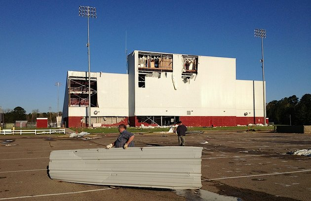 workers-clean-up-storm-damage-at-camden-fairview-high-school-on-friday-april-4-2014