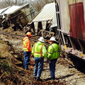 A train derailed Tuesday in Benton County.