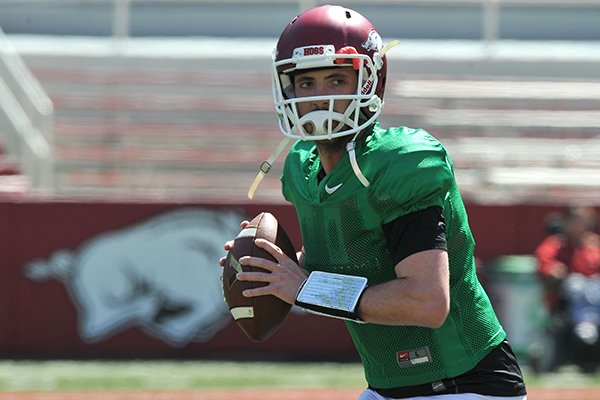 arkansas-quarterback-brandon-allen-runs-drills-during-practice-saturday-morning-at-razorback-stadium-in-fayetteville