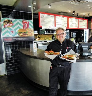 Angus Jack is a locally owned fast-casual restaurant operated by Ian Cairns (pictured) and his wife Jean.