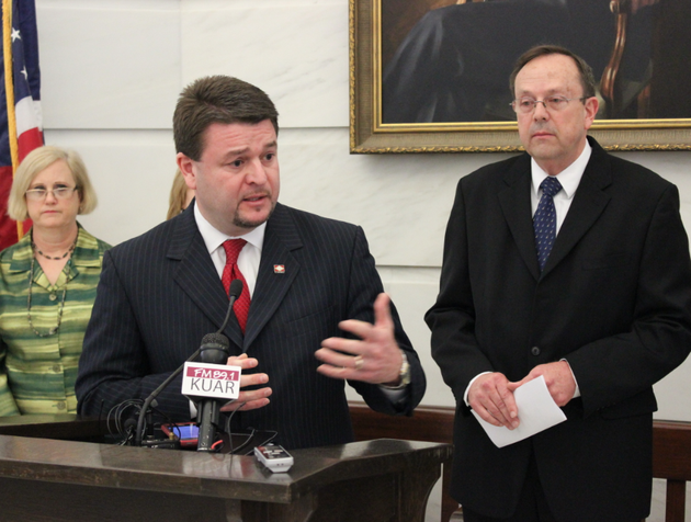 state-sen-jason-rapert-r-bigelow-says-friday-april-11-2014-at-the-arkansas-capitol-in-little-rock-that-the-state-will-appeal-a-federal-judges-decision-to-strike-down-part-of-a-law-that-banned-most-abortions-after-12-weeks