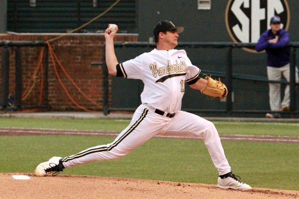Tyler Beede. Vanderbilt hosts LSU at Hawkins Field on March 14, 2014. (Steve Green/Vanderbilt University)