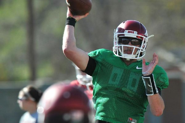 Brandon Allen, Arkansas' returning starting quarterback, said backups Austin Allen and Rafe Peavey will benefit from extra reps during the remainder of spring practices.