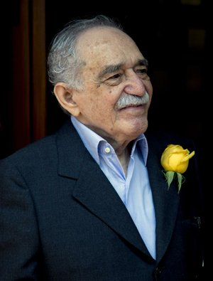Gabriel Garcia Marquez greets fans outside his home March 6 in Mexico City on his 87th birthday.