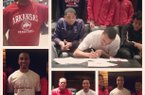 Junior college point guard Jabril Durham inked with the Hogs during a signing ceremony at his school Friday morning.