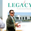 Legacy National Bank chief executive officer Don Gibson speaks during a ground-breaking ceremony for...