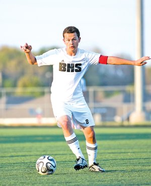 Special To NWA Media David J. Beach Josh Howard embraced his role as co-captain for the Bentonville boys soccer team.