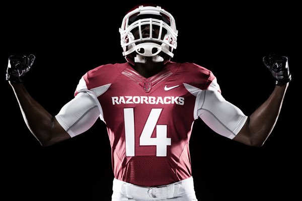 An artist's rendering of Arkansas uniforms for the 2014-15 season.
