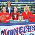 Courtesy Photo Marleeya Montgomery signed Wednesday with North Arkansas College in the Springdale Ha...