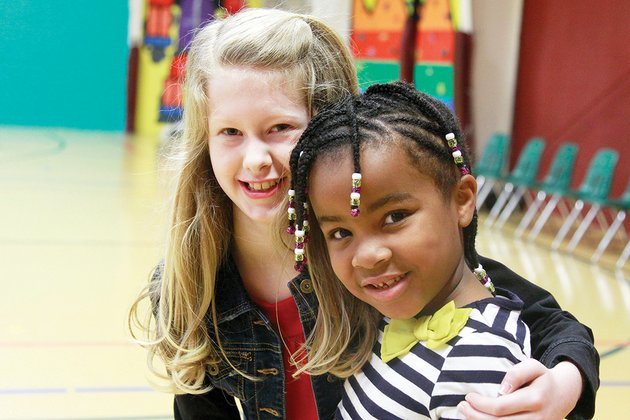 riley-strube-10-left-is-shown-with-her-friend-londyn-giles-6-who-is-autistic-riley-received-the-prudential-spirit-of-community-award-at-cabot-middle-school-south-on-april-16-she-has-logged-more-than-450-community-service-hours-including-time-spent-with-the-i-can-dance-program-which-works-with-children-with-special-needs-where-riley-met-londyn-three-years-ago