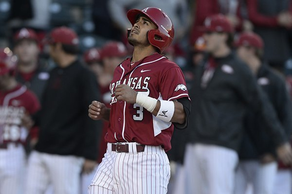 Arkansas shortstop Michael Bernal hit a two-run home run during Tuesday's 4-1 win at Missouri State.