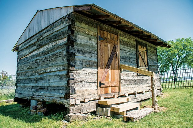 the-new-trapper-cabin-at-pioneer-village-in-searcy-was-constructed-from-old-logs-reclaimed-from-part-of-a-house-that-was-being-torn-down