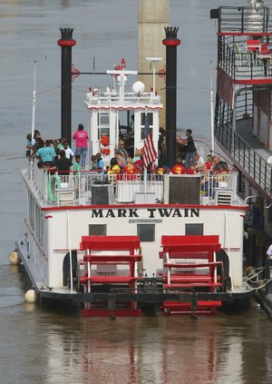 The Mark Twain Riverboat offers a Mother's Day brunch on the river Sunday.