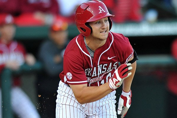 Arkansas outfielder Joe Serrano hit a game-winning single in the bottom of the ninth inning Friday against Texas A&M at Baum Stadium in Fayetteville. The Razorbacks won 3-2.