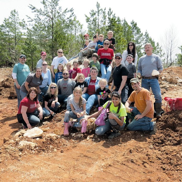 third-graders-in-the-gifted-and-talented-classroom-at-vilonia-elementary-school-along-with-teacher-chere-beavers-and-some-parents-visited-coleman-crystal-mine-in-jessieville
