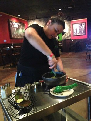 Guacamole is made fresh at the table at Cilantros Grill in North Little Rock.