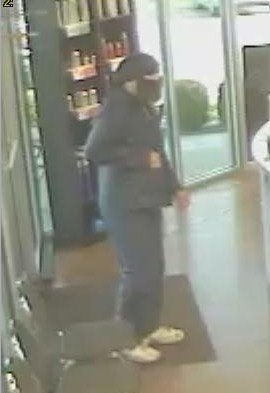 The suspect in a Springdale robbery.