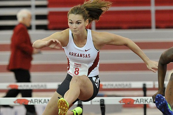 Arkansas' Alex Gochenour is in second place after the first day of the heptathlon at the SEC Championships.