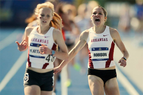 Diane Robison won the women's 5,000-meter race at the 2014 SEC Outdoor Track and Field Championships May 18, 2014, in Lexington, Ky.