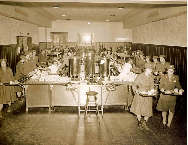 this-photo-from-may-4-1943-shows-womens-army-corps-members-getting-food-in-mccastlain-hall-the-first-standalone-cafeteria-at-the-university-of-central-arkansas-in-conway-about-1800-women-were-stationed-at-what-was-then-arkansas-state-teachers-college-from-march-1943-through-march-1944-said-gayle-seymour-associate-dean-of-the-college-of-fine-arts-and-communication-and-co-writer-of-a-grant-to-renovate-and-restore-the-1939-building