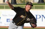 Ryne Stanek recorded his first professional win Monday.