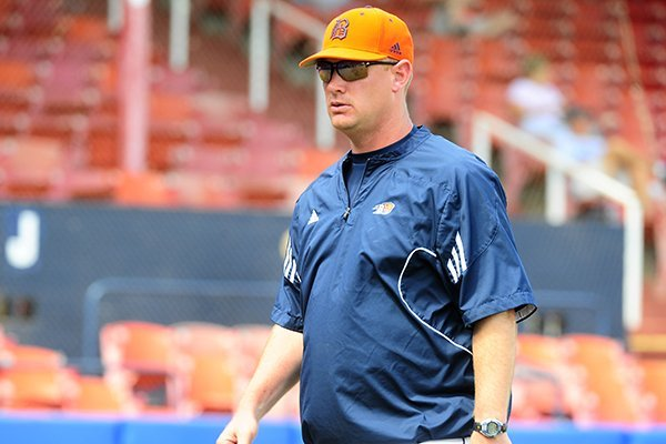 Scott Heather, a pitcher and student coach at Arkansas in the late 1990s, led Bucknell to a Patriot League regular season and tournament championship in his second season as a head coach. (courtesy photo/Bucknell Athletics)
