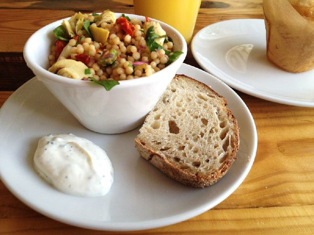 mylo-coffee-cos-couscous-salad-comes-with-a-dab-of-greek-yogurt-dressing-and-bread