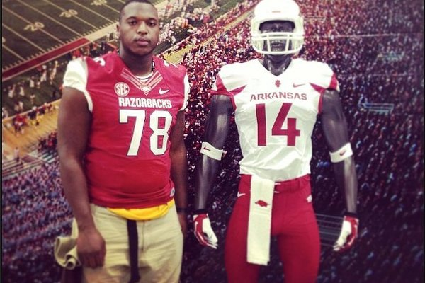 Offensive lineman Cameron Jefferson will report to Arkansas in late June or early July.