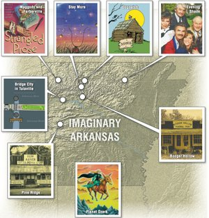 Imaginary Arkansas map