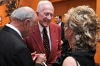 Frank Broyles greets friends and supporters during the reception prior to a banquet in his honor at the John Q Hammons Center in Rogers on Saturday June 7, 2014.