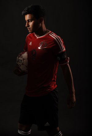 STAFF PHOTO ANDY SHUPE Erick Batres of Springdale High is the All-NWA Media Boys Soccer Player of the Year.