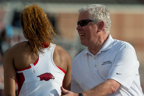 Arkansas coach Lance Harter was named regional coach of the year for the outdoor season.