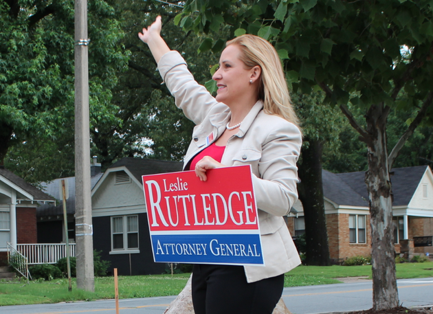 attorney-general-candidate-leslie-rutledge-waves-to-passing-motorists-while-campaigning-tuesday-morning-in-little-rock