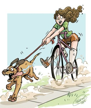 Bike riding with your dog