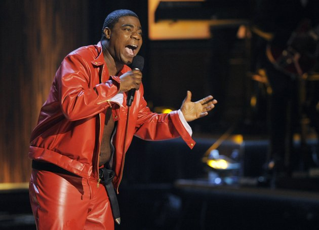the-associated-press-in-recovery-comedian-tracy-morgan-performs-at-eddie-murphy-one-night-only-a-celebration-of-murphys-career-at-the-saban-theater-in-beverly-hills-calif-a-report-on-the-crash-that-seriously-injured-comedian-tracy-morgan-and-killed-another-man-says-the-driver-of-a-tractor-trailer-was-speeding-before-the-crash-the-preliminary-report-released-thursday-by-the-national-transportation-safety-board-says-trucker-kevin-roper-was-driving-65-mph-at-the-time-of-the-june-7-crash